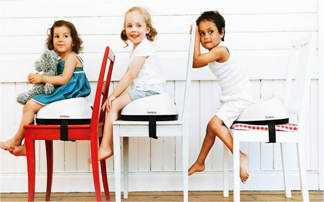 un r hausseur de chaise babybj rn pour b b gagner sur cubes et petits pois cubes petits pois. Black Bedroom Furniture Sets. Home Design Ideas