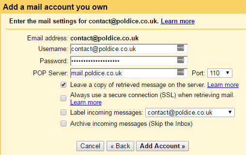 Adding your email account to Gmail - Email - cloudabove