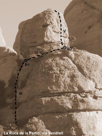 La Roca de la Partió, via Vendrell