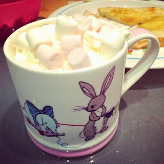 Belle and Boo cup of Hot Chocolate