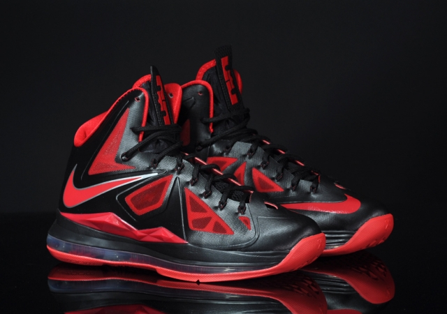 Nike Lebron 10 Red And Black