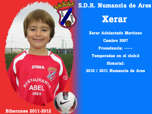 A. D. R. Numancia de Ares. Biberones 2011-2012. Xerar