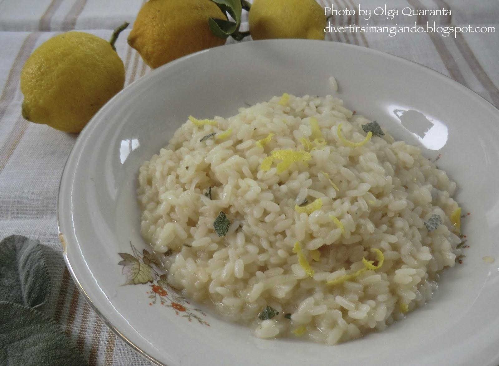 divertirsi mangiando: risotto al limone e salvia - Cosa Cucinare Oggi A Pranzo
