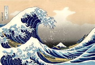 Гравюра цунами, Япония