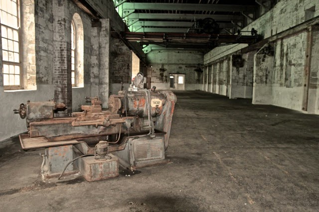 Abandoned machinery, Cockatoo Island, Sydney Harbour