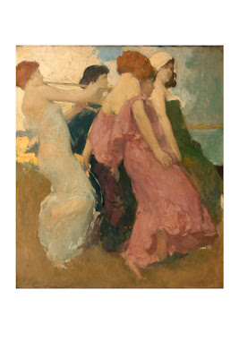 Spanish Dancers, M. (Mary) DeNeale Morgan (1868-1948), oil on canvas, City of Monterey Collection.