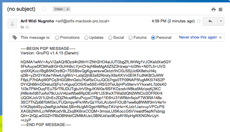 An Encrypted Email!