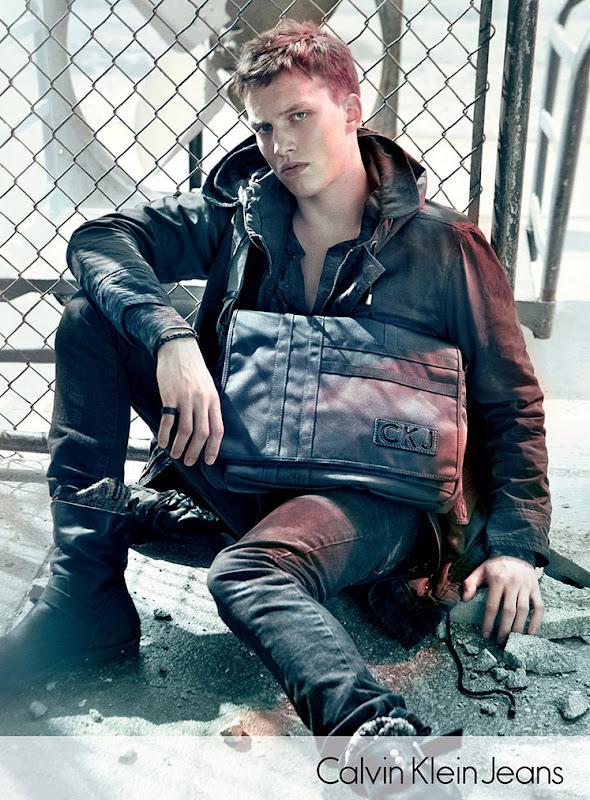 Malthre Lund Madsen @ Elite Copenhagen/VNY by Sebastian Kim for Calvin Klein Jeans F/W 2011. Styled by Karl Templer.