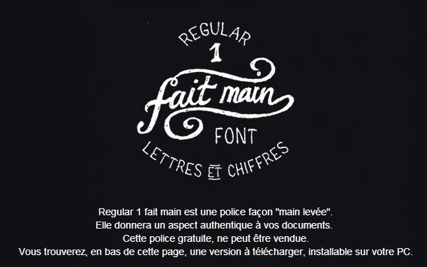 Fait main 1 Free Fonts