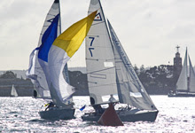 J/22s sailing California Dreamin Match Race regatta