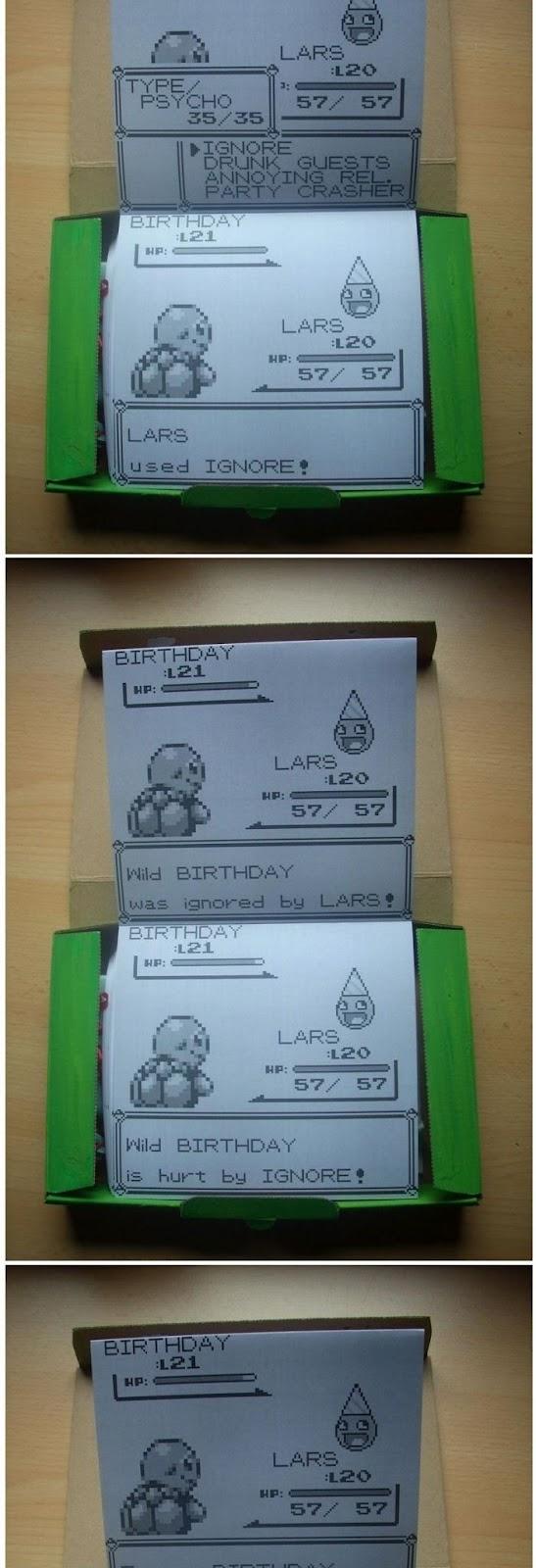 【画像】ポケモンの戦闘画面方式の誕生日ギフトカード