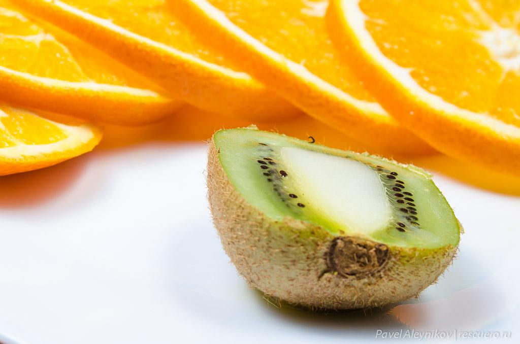 Киви и апельсин