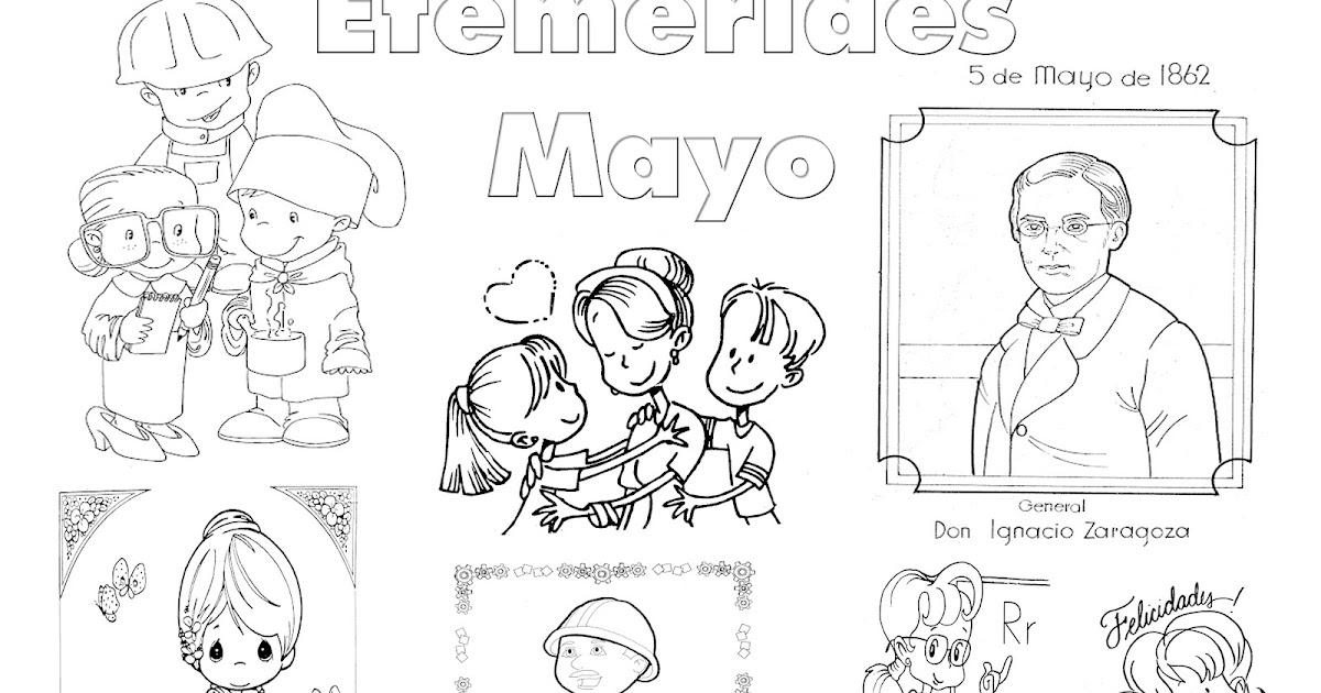Te Cuento Un Cuento Efemérides De Mayo Para Colorear