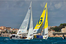 J/80s sailing Match Race France off Marseilles