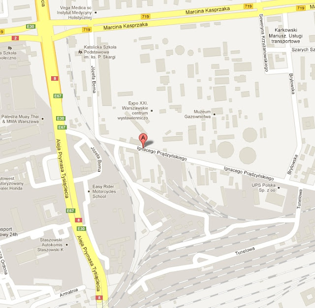 GasShow 2012 - mapka dojazdu - kliknij aby zobaczyć w Mapy Google