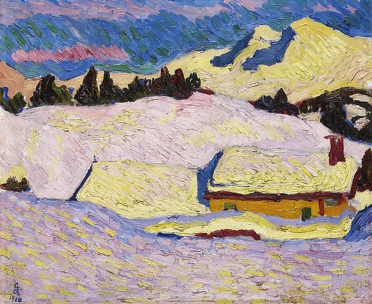 Giovanni Giacometti - Winterlandschaft, 1910