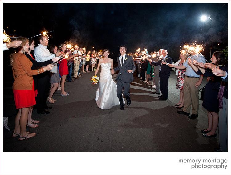 wedding sparklers bozarth mansion spokane wa