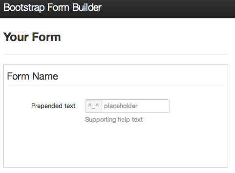 Bootstrap Form Builder