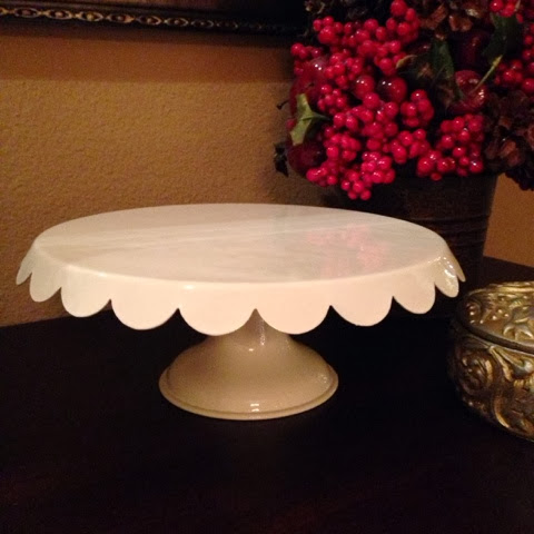 scalloped cake plate