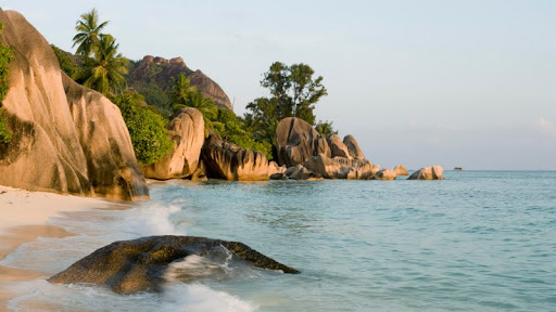 Sandy Shores of La Digue Island, Seychelles.jpg