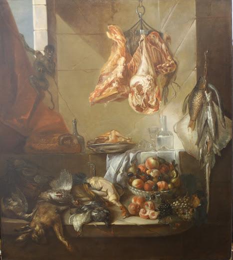 Entourage d'Alexandre-François Desportes, Intérieur de cuisine, 1ère moitié du XVIIIème siècle