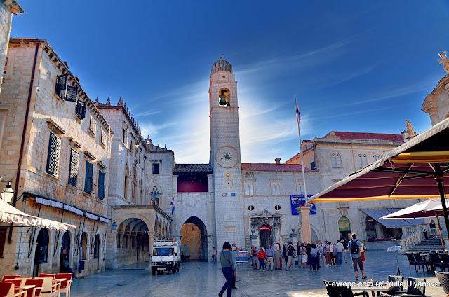 На главной улиуце Страдун в Дубровнике