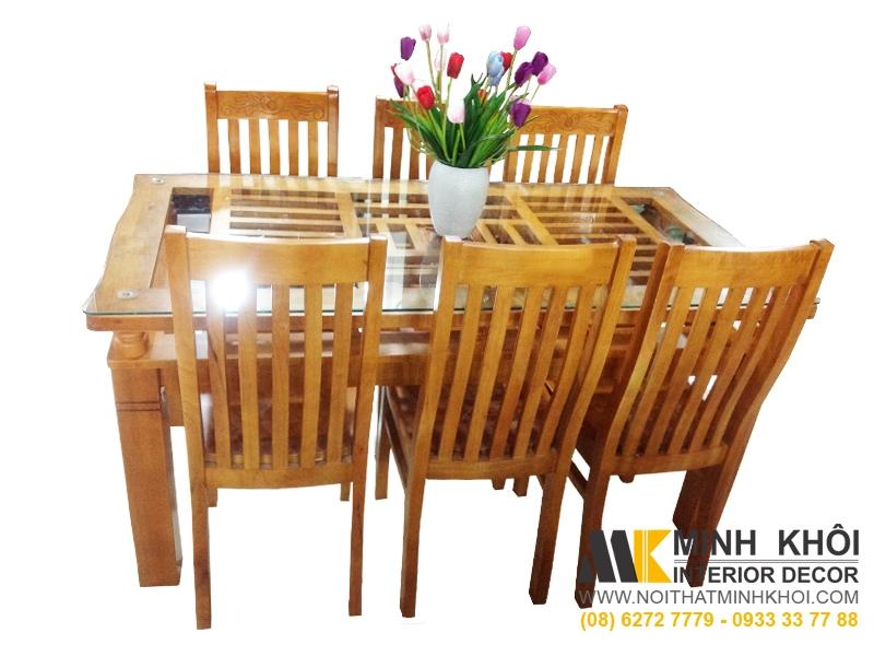 Bộ bàn ăn cao cấp gỗ xoan đào BA235