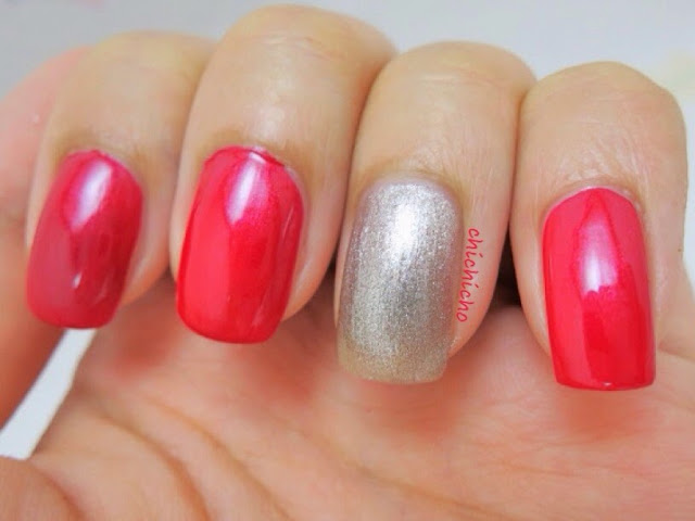 Essie 579 Catwalk and Rubi Disco Inferno Swatch