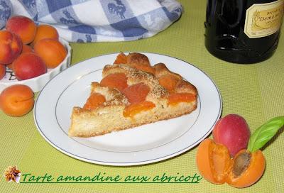 Tarte amandine aux abricots - recette indexée dans les Desserts