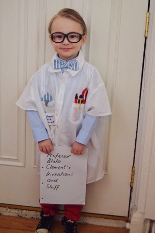 Blake Clement Science Day dress up