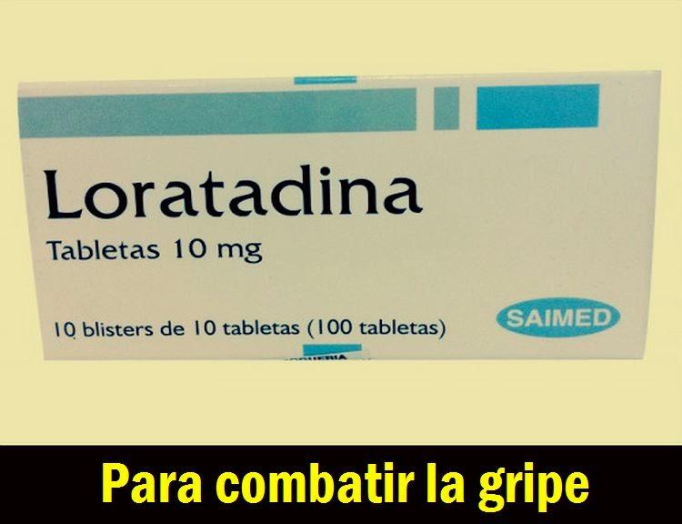 Loratadina para combatir la gripe