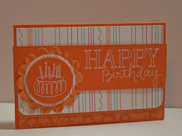 Orange Fizz Gift Card Holder
