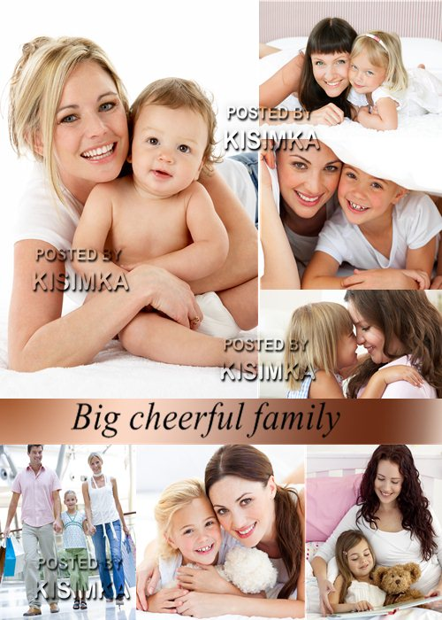 Stock Photo: Big cheerful family