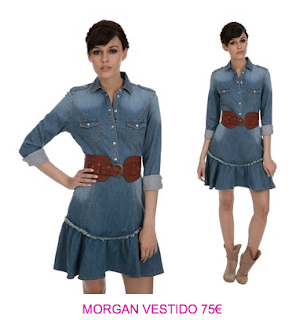 Morgan vestidos denim3