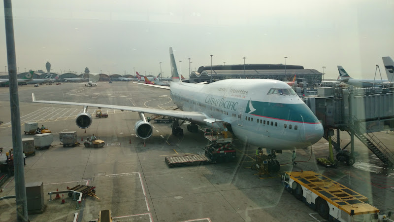 DSC 2858 - REVIEW - Cathay Pacific : First Class - Hong Kong to Tokyo (B747)