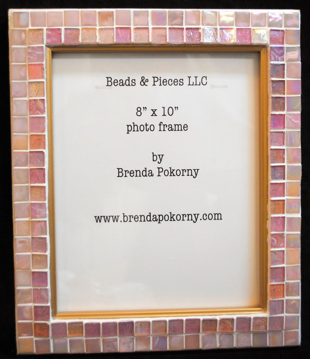 Mosaic Photo Frames in Pink Tones