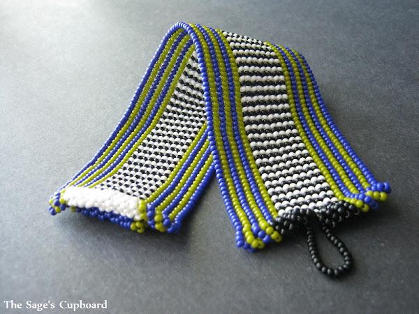 Cobalt Lime Stripe Cuff