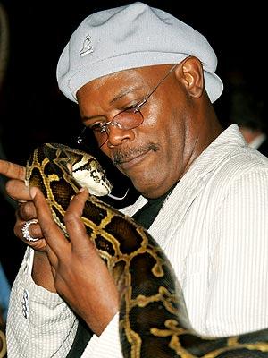 Samuel Jackson and a snake