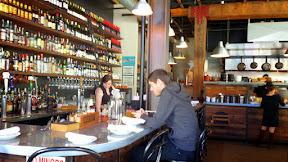 Tasty n Alder restaurant space, bar seating