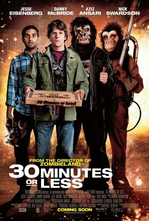 Poster Of 30 Minutes or Less (2011) Full Movie Hindi Dubbed Free Download Watch Online At Alldownloads4u.Com