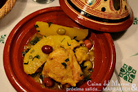 Tajín de pollo con patatas, sencillez en la cocina
