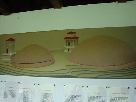 Курганы горы Магура (схема)