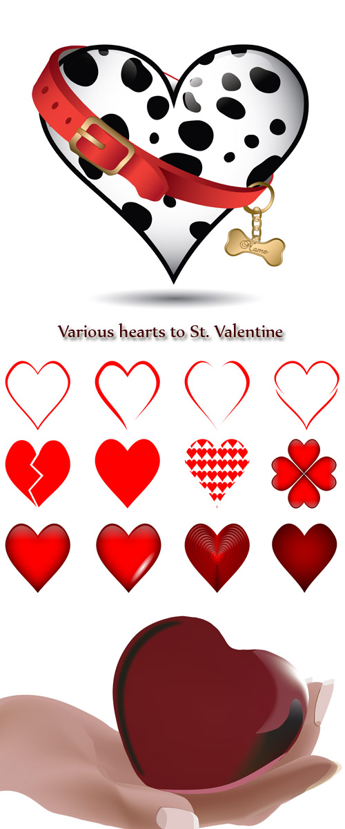 Stock: Various hearts to St. Valentine
