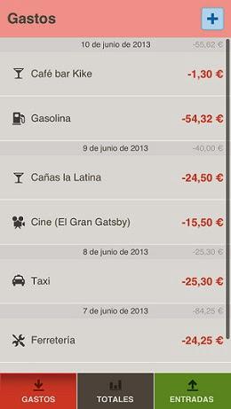TusGastos, una app gratuita para controlar los gastos de efectivo