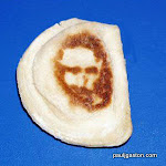 "This is the holiest of hors d'oeuvres - a pierogi with the image of Christ burned on. According to its owner, Donna Lee, the apparition appeared on the appetizer as she cooked her dinner on Palm Sunday. ""I was frying pierogis, when I turned this one over the face of the Lord was fried into it,"" she said.<P><B>Ref: EMLA 100805 C </B><P><B>Splash News and Pictures</B><br>Los Angeles:310-821-2666<br>New York:212-619-2666<br>London:207-107-2666<br>photodesk@splashnews.com"