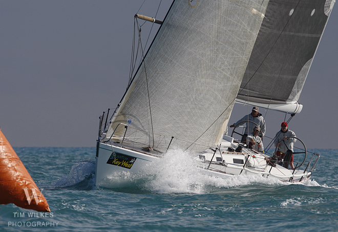 J/44 White Gold sailing off Key West