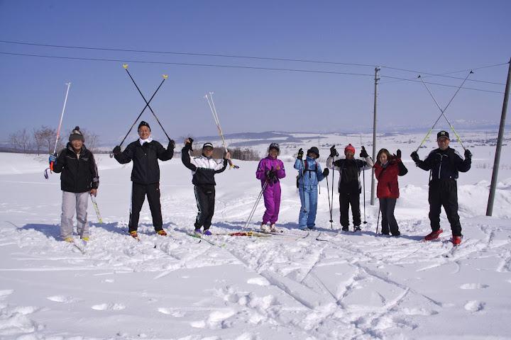 写真:スノーウォーキング!最高〜!