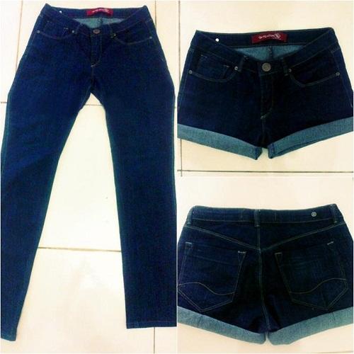 customização de short jeans básico