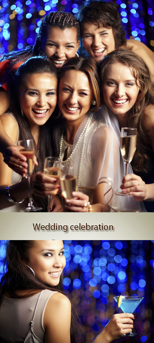 Stock Photo: Wedding celebration in club