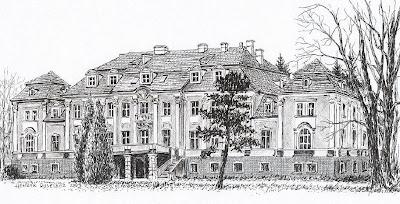 Pałac w Szklarach Górnych – elewacja od strony parku